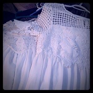 Lot of 2 NEW white boho dresses